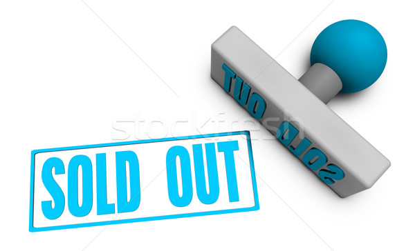Sold Out Stamp Stock photo © kentoh