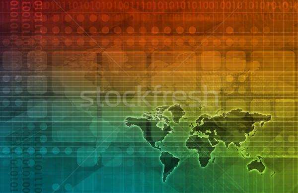 передовой технологий науки бизнеса аннотация дизайна Сток-фото © kentoh