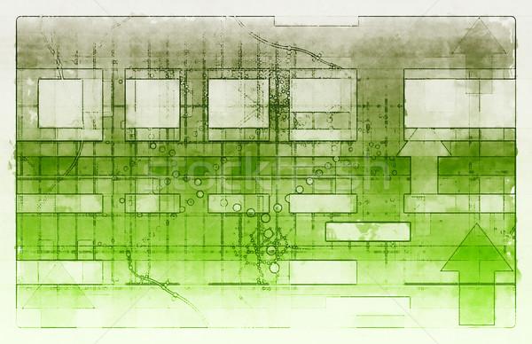 Zaawansowany technologii futurystyczny streszczenie sztuki komputera Zdjęcia stock © kentoh