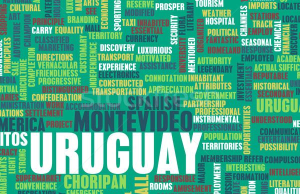 Uruguay ülke soyut sanat iş tanıtım Stok fotoğraf © kentoh