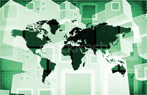 интегрированный глобальный уровень аннотация сеть Сток-фото © kentoh