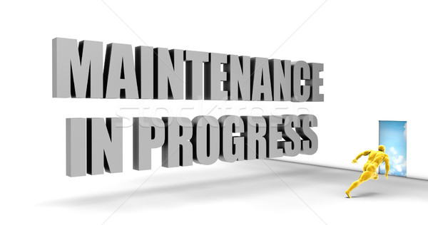 Maintenance in Progress Stock photo © kentoh