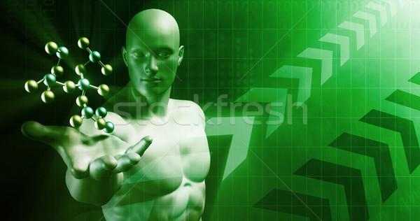 Absztrakt tudomány atomi kutatás sablon internet Stock fotó © kentoh