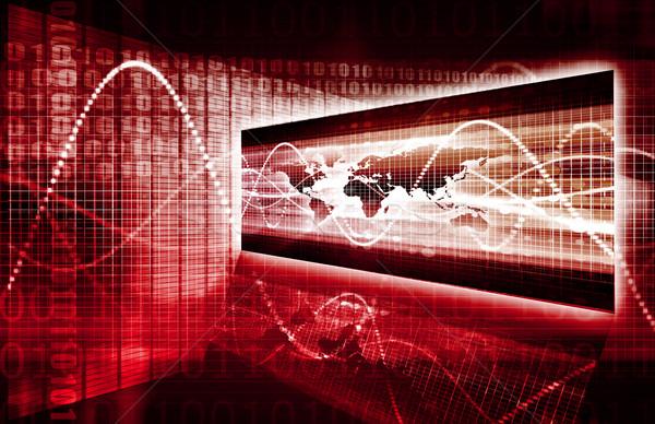 Informação segurança mundial branco computador Foto stock © kentoh