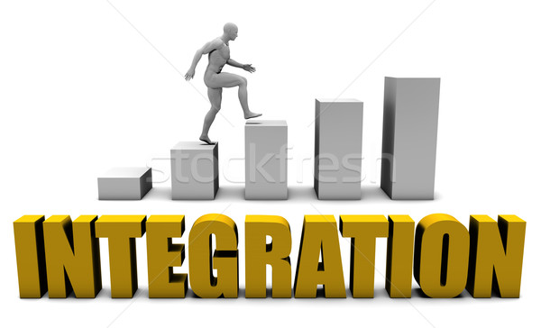 Intégration plate-forme affaires processus bureau entreprise Photo stock © kentoh