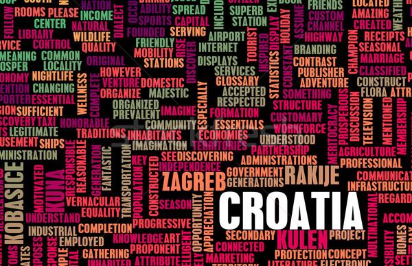 Хорватия стране аннотация искусства бизнеса футбола Сток-фото © kentoh