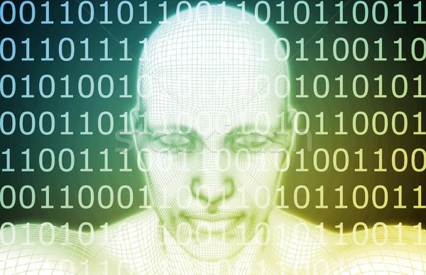 будущем виртуальный реальность гуманоид бизнеса образование Сток-фото © kentoh
