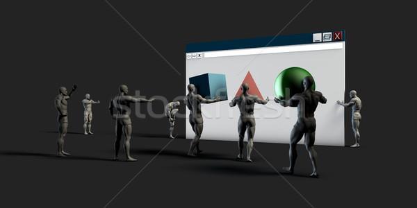 Website Project Stock photo © kentoh