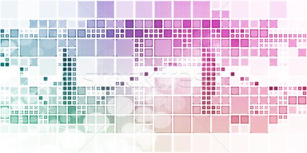 Marché recherche plan produit internet fond Photo stock © kentoh