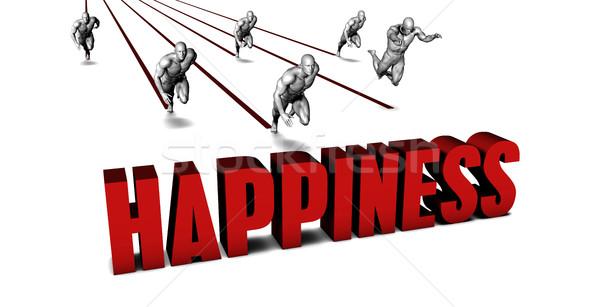 Besser Glück Business-Team racing Geschäftsmann läuft Stock foto © kentoh