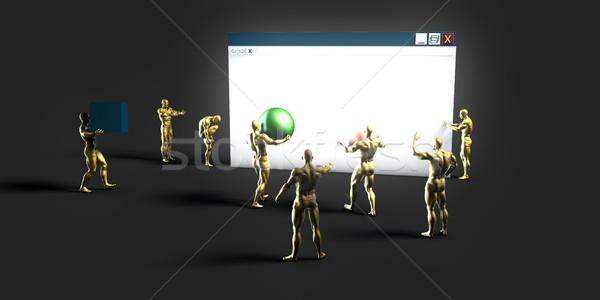 Web tecnología de la información arte futuro Internet tecnología Foto stock © kentoh