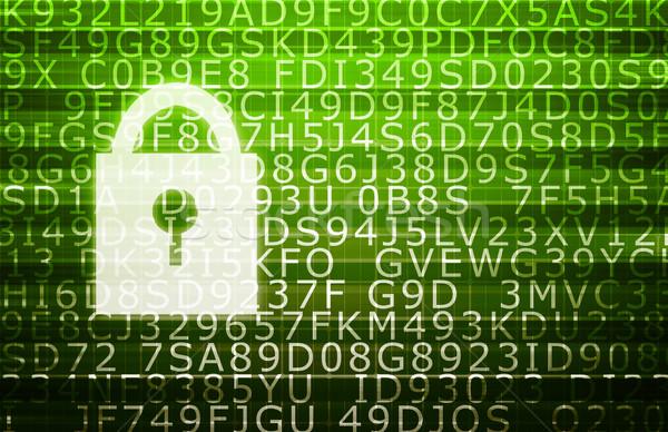 Segurança de dados documento informação negócio abstrato fundo Foto stock © kentoh