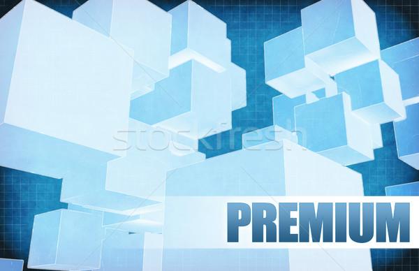 Prime futuriste résumé présentation slide design Photo stock © kentoh