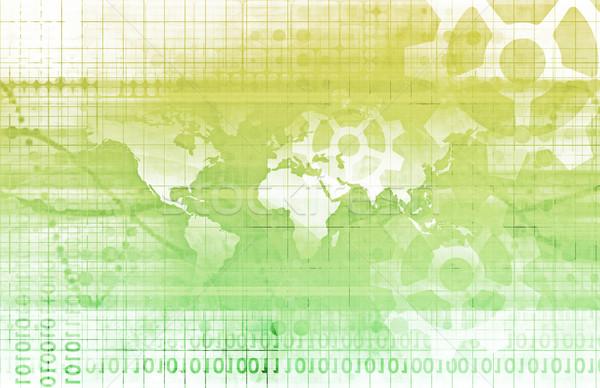 Entegre çözümler web Internet harita Stok fotoğraf © kentoh