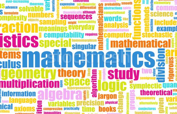 Matemática abstrato matemática fundo aprendizagem conceito Foto stock © kentoh