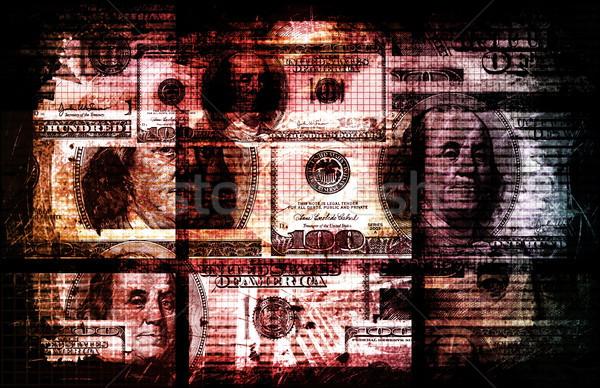Koszos pénz bűnözés korrupció vagyon absztrakt Stock fotó © kentoh