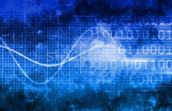 Technologia informacyjna działalności Internetu streszczenie medycznych świetle Zdjęcia stock © kentoh