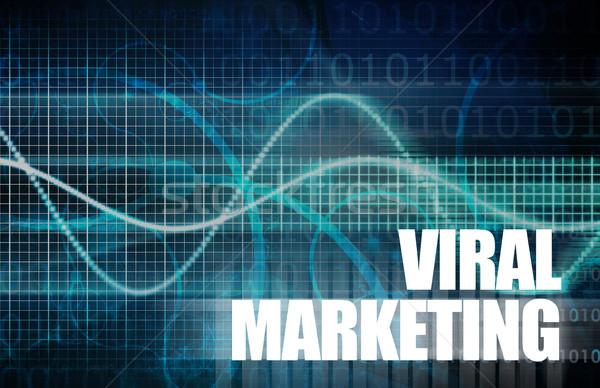Virális marketing mag művészet színpad piac Stock fotó © kentoh