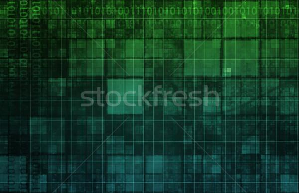 Technologia informacyjna danych sieci tle korporacyjnych firmy Zdjęcia stock © kentoh