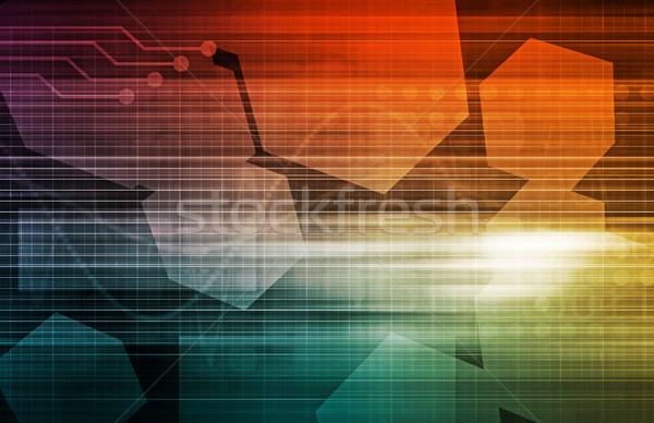 Iş süreç yönetim sanat soyut teknoloji Stok fotoğraf © kentoh