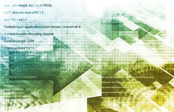 Képzés porta globális oktatás online művészet Stock fotó © kentoh