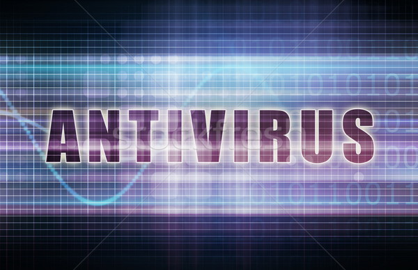 Antivirus tech business grafiek kunst achtergrond Stockfoto © kentoh