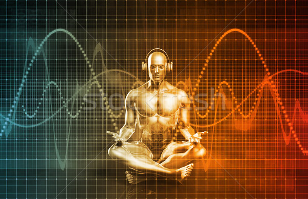 Technológia zene hang tapasztalat absztrakt tudomány Stock fotó © kentoh