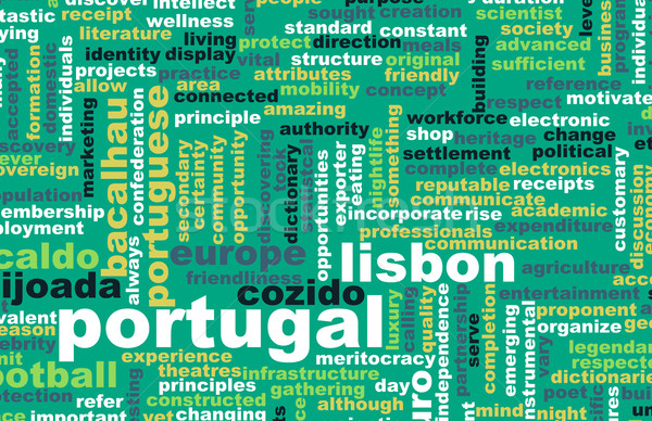 Portugal país resumen arte negocios fútbol Foto stock © kentoh