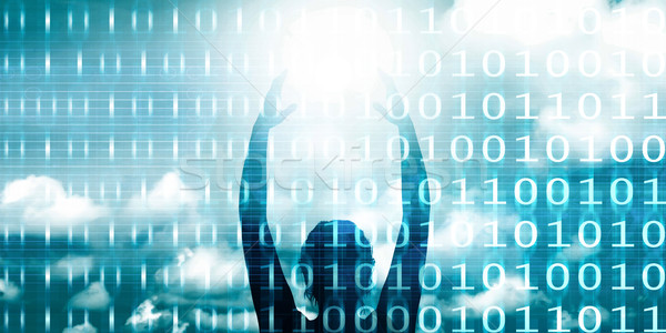 Jövő technológia profi háttér csillagok szoftver Stock fotó © kentoh