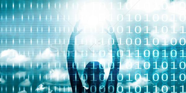 Toekomst technologie professionele achtergrond sterren software Stockfoto © kentoh