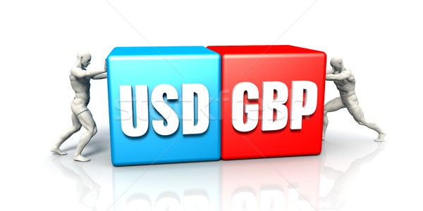 USD GBP Currency Pair Stock photo © kentoh