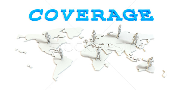 Coverage Global Business Stock photo © kentoh