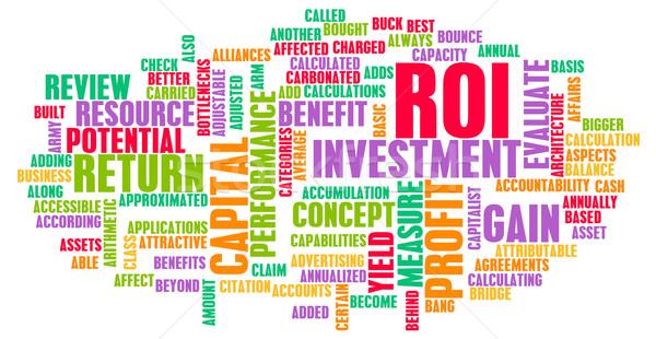 Stock fotó: Roi · visszatérés · beruházás · művészet · üzlet · net