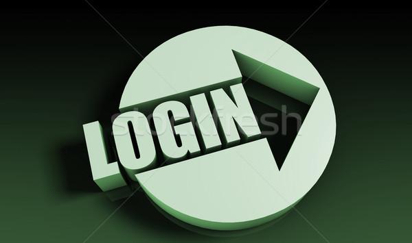 Login seta negócio chave traçar apresentação Foto stock © kentoh