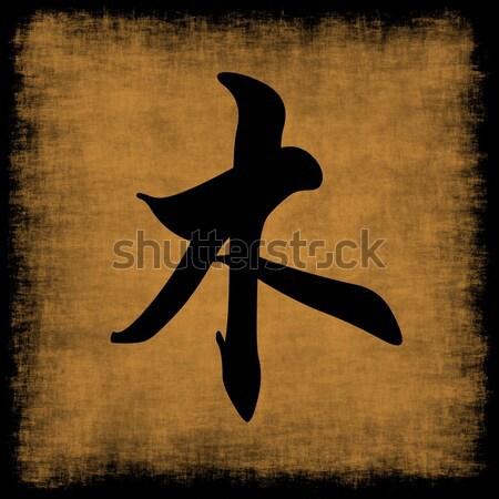 Korrupció hagyományos kínai kalligráfia háttér poszter Stock fotó © kentoh