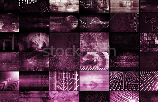 Interactieve media digitale entertainment ontwerp notebook Stockfoto © kentoh