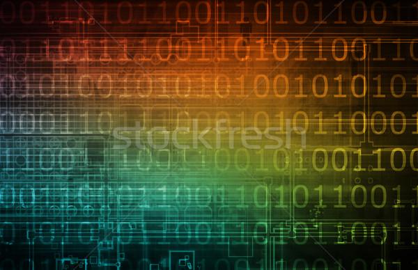 Ciberespaço binário dados arte computador Foto stock © kentoh