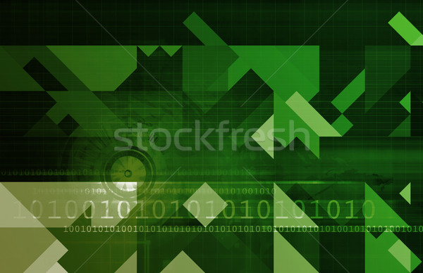 Business verstand abstract besluitvorming kunst technologie Stockfoto © kentoh