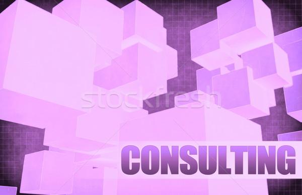 Consulenza futuristico abstract presentazione slide sfondo Foto d'archivio © kentoh