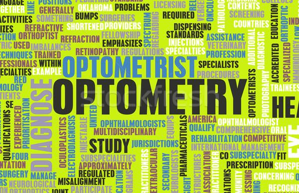 Optometrist medische veld specialiteit arts gezondheid Stockfoto © kentoh