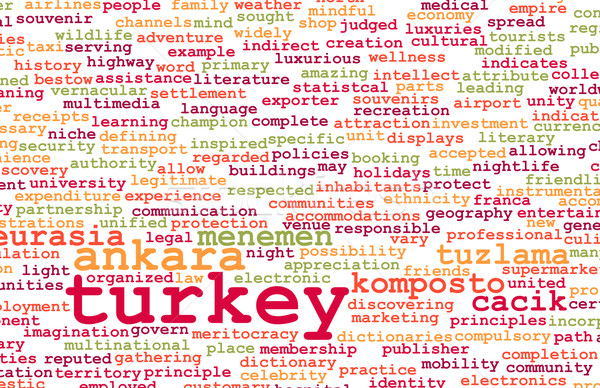 Turquía país resumen arte negocios alimentos Foto stock © kentoh