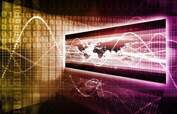 Business internazionale globale partner catena software digitale Foto d'archivio © kentoh