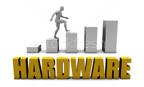 Hardver javít üzlet folyamat iroda vállalati Stock fotó © kentoh