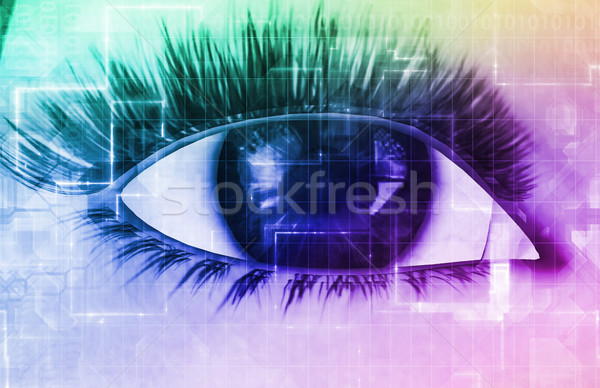 Security Scanning an Iris or Retina Stock photo © kentoh