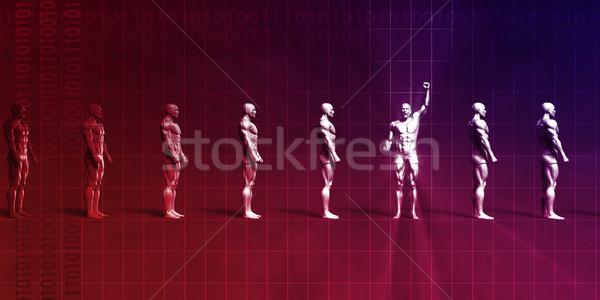 Hatékony vezető vezető felismerhetetlen tömeg tömeg Stock fotó © kentoh