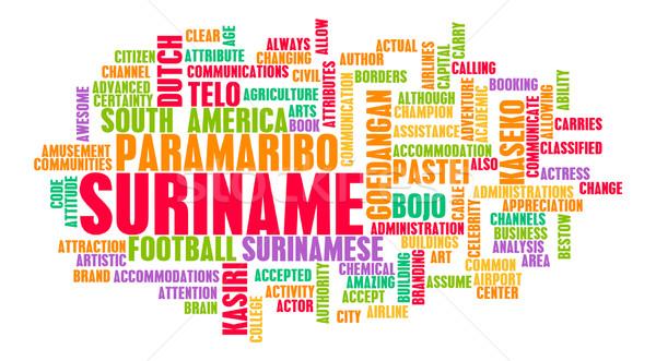 Suriname pays résumé art affaires football Photo stock © kentoh