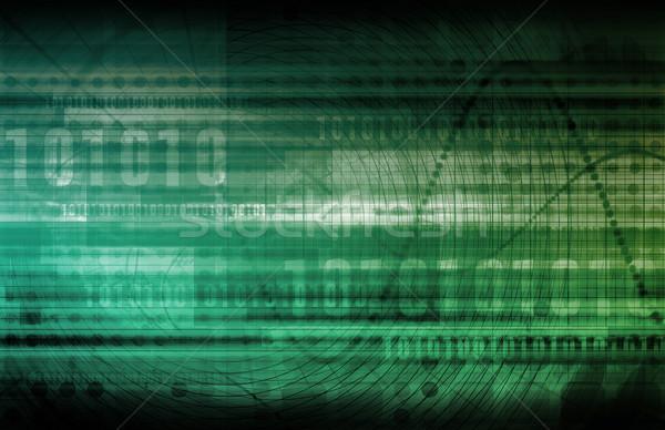 Analytics prognose software kunst abstract ontwerp Stockfoto © kentoh