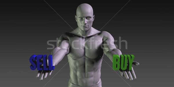 Comprar vs vender escolher dois Foto stock © kentoh