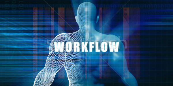 Workflow futuristische abstract technologie Stockfoto © kentoh