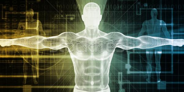 Tıbbi taramak vücut soyut arka plan tıp Stok fotoğraf © kentoh